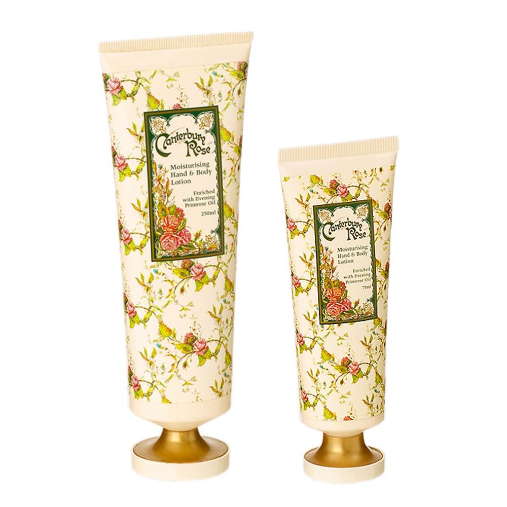 Madiggan英國坎特伯里玫瑰精油乳液250ml+玫瑰精油護手霜75ml