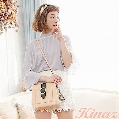 KINAZ 夢想光圈斜背包-舞鞋粉-土星系列