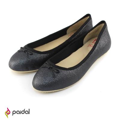 Paidal 典雅奢華蝴蝶節娃娃鞋包鞋-時尚黑