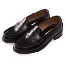 (女)日本 HARUTA 復古經典4505亮面便士鞋-黑色