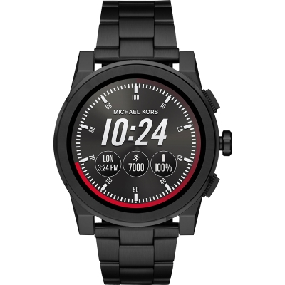 Michael Kors Access 觸控智能手錶-黑/47mm