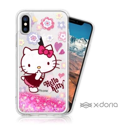 Hello Kitty iPhone X 亮片流沙手機軟殼 - 俏麗