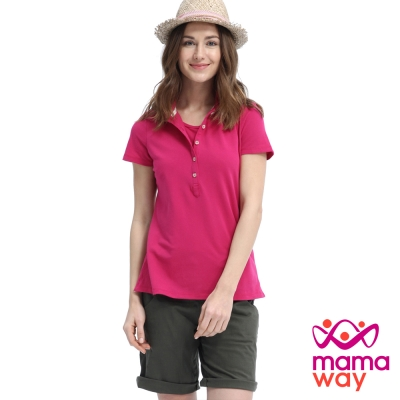 Mamaway 基本POLO孕婦裝.哺乳衣(共三色)