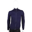 PRADA 藍色羊毛拉鍊針織外套(男款/100%LANA)