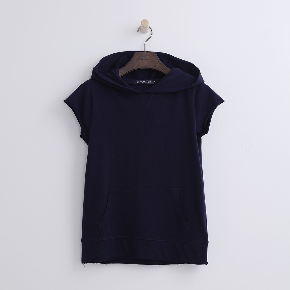Hang Ten - 女裝 - 純色連帽運動衫-藍紫色