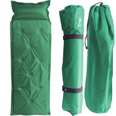露營防潮自動充氣床墊軍綠一個