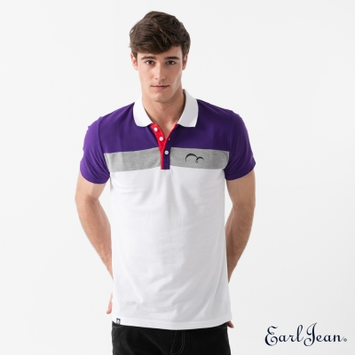 Earl Jean 三色撞色POLO衫-紫-男