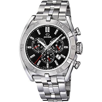 JAGUAR積架 EXECUTIVE 計時手錶-黑x銀/45.8mm