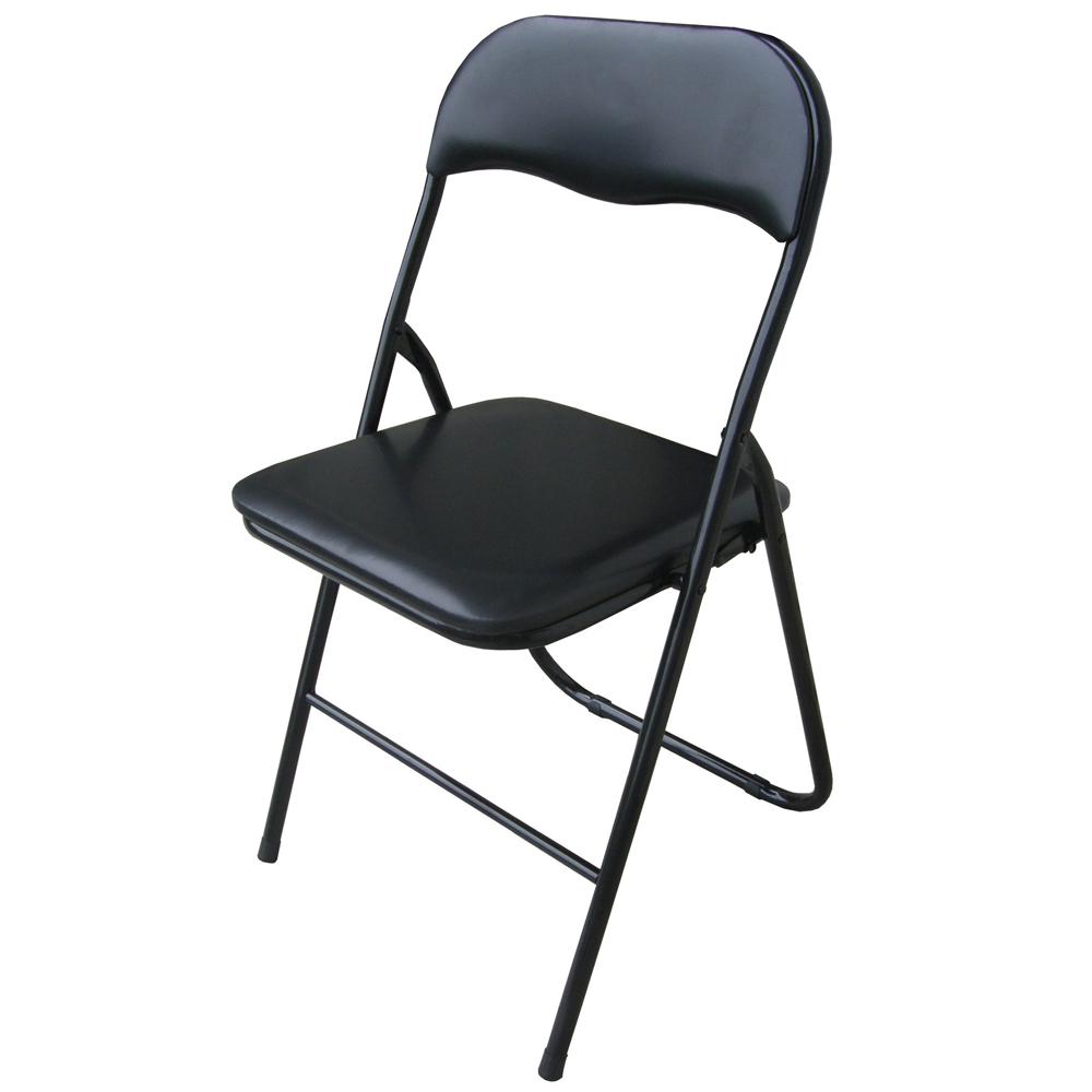 頂堅 高背橋牌折疊椅(4入/組)-全黑色