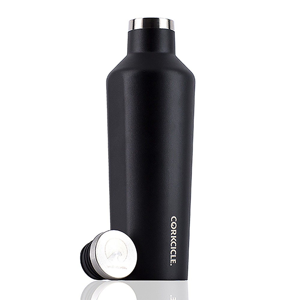 CORKCICLE 酷仕客Waterman戶外系列三層不鏽鋼易口保溫瓶-470ml (消光黑)