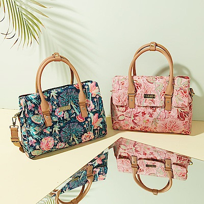 LiliO  側背包  非洲花卉彩繪印花  Handbag Powder
