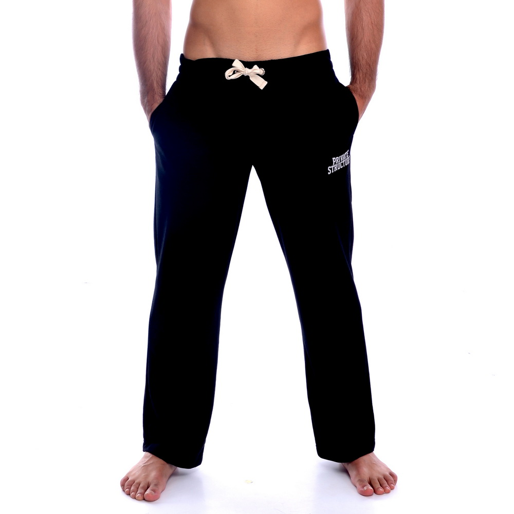 《PRIVATE STRUCTURE》舒適棉質休閒長褲(黑色)