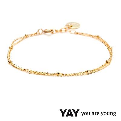 YAY You Are Young 法國品牌 Stella 簡約手鍊 金色