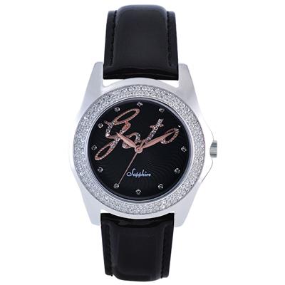 GOTO Starry Sky 晶鑽時尚腕錶-黑x玫/38mm