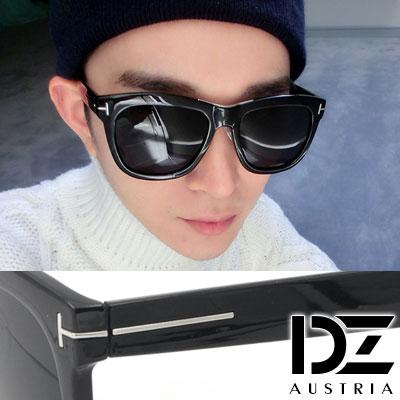 DZ 明星T線 抗UV 偏光 太陽眼鏡墨鏡(亮黑框)