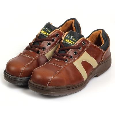 Kai Shin 鋼包頭 安全工作鞋 咖啡色