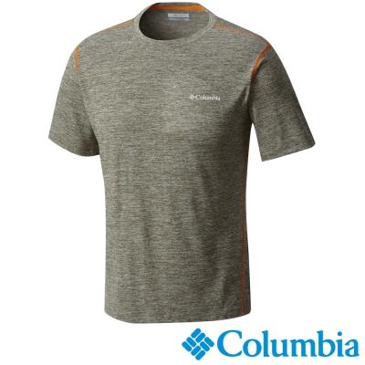 【Columbia哥倫比亞】男-快排短袖上衣-軍綠色 UAE12930AG