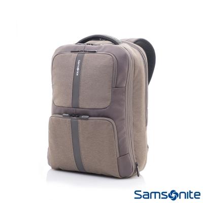 Samsonite-新秀麗GARDE對開式四段可擴充筆電後背包-15-6吋-卡其灰
