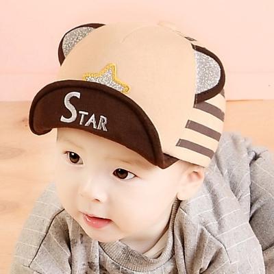 韓版 閃亮星星+立體耳朵 兒童棒球帽