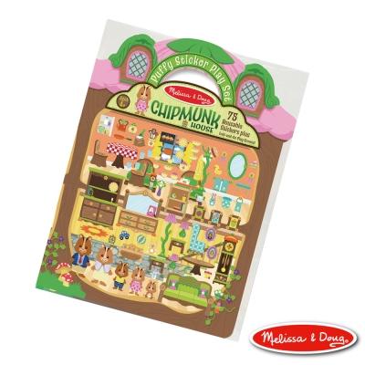 美國瑪莉莎 Melissa & Doug 可重複貼泡泡貼紙遊戲書 - 可愛花栗鼠樹屋