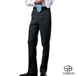 GIBBON 層次修身平口西裝褲‧暗藍32-42