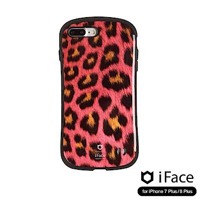iFace iPhone8/8+ 雙素材吸震抗衝擊手機殼(動物紋)-粉豹紋