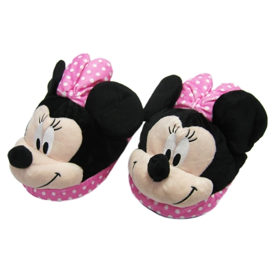 迪士尼超立體米妮毛絨室內拖鞋 居家拖鞋