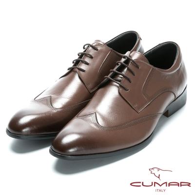 CUMAR 英式牛津款皮革正式皮鞋-咖啡色 @ Y!購物