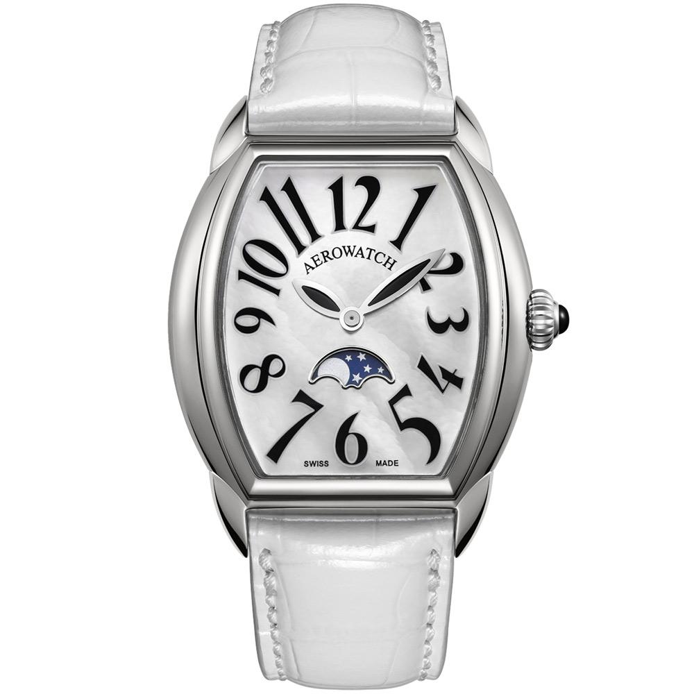 AEROWATCH Horloge lady 月相珍珠貝腕錶-35mm