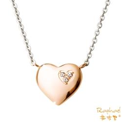 拉法兒Raphael 心中之愛白鋼項鍊-玫瑰金
