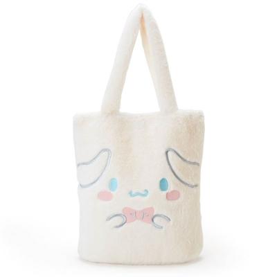 Sanrio 大耳狗喜拿大臉刺繡絨毛手提袋