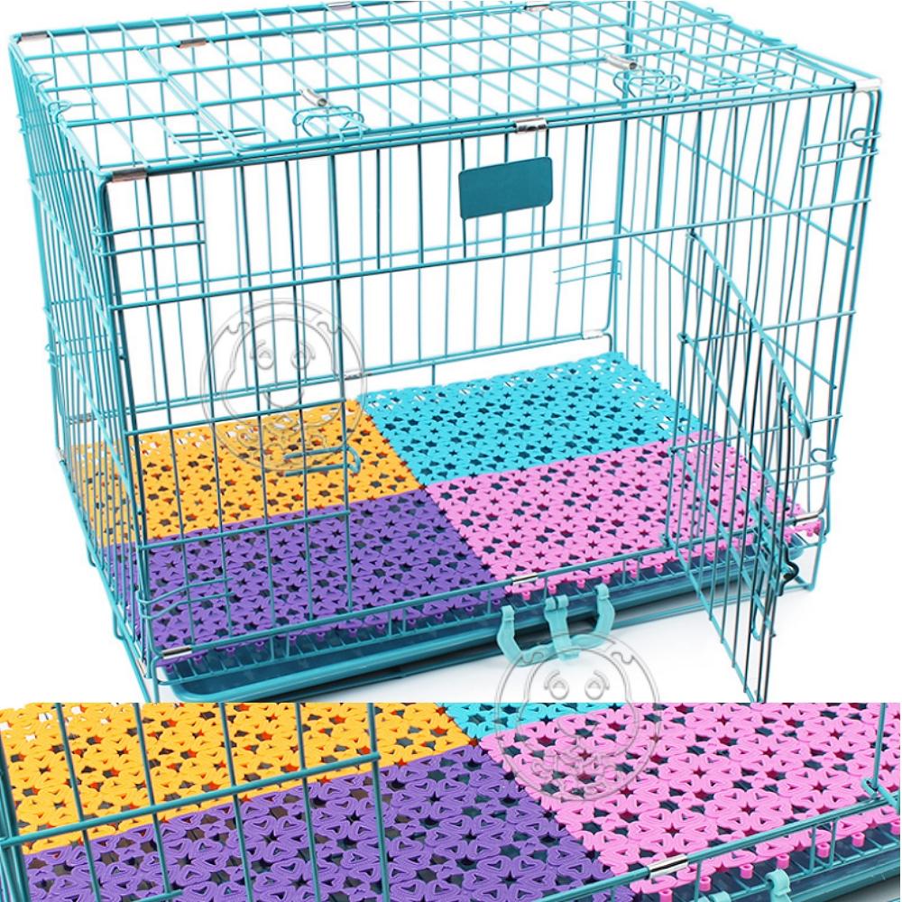 dyy寵物籠專用》貓狗籠糖果色不卡腳防滑墊 踏墊網格墊子30*20cm*4片