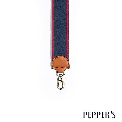 PEPPER`S  撞色編織斜揹帶 - 深藍