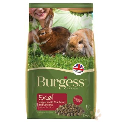 Burgess伯爵高機能兔飼料-老兔蔓越莓&人蔘2kg 2入
