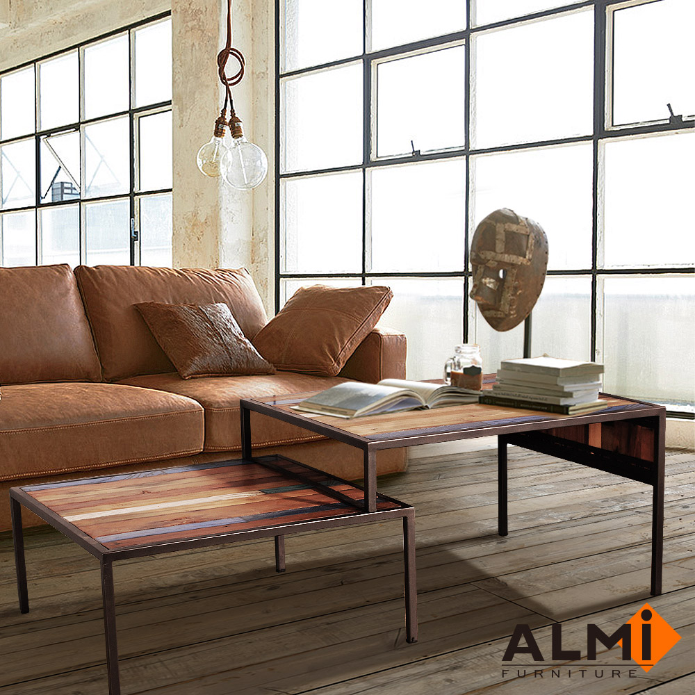 ALMI-SIDE TABLE 伸縮咖啡桌W78-138*D70*H46CM