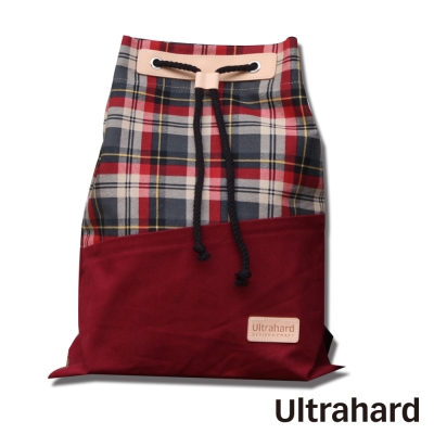 Ultrahard College 學院束口背包系列-藝術畫格(紅)