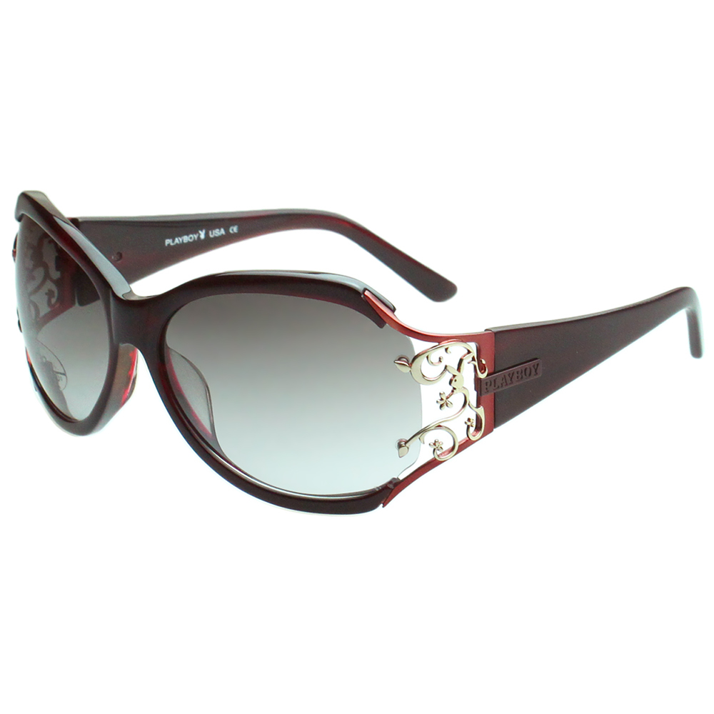 PLAYBOY-時尚太陽眼鏡(紅色)PB3003