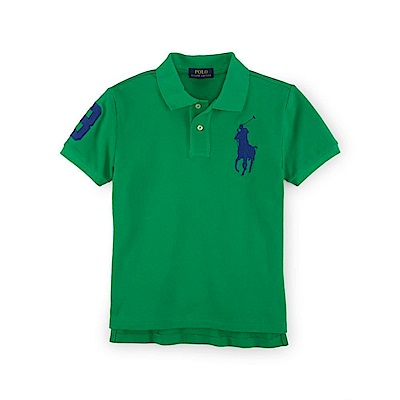 Ralph Lauren 短袖 POLO 素面 小孩 綠 0755