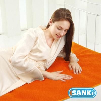 三貴SANKI 獨立氣泡發熱舒適保暖墊-時尚橙 雙人 (140*200cm)2入