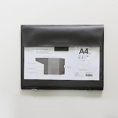 Funnymade 大人收納PVC辦公檔案包A4-極黑