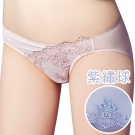 思薇爾 芭紗花園系列M-XXL蕾絲刺繡低腰三角內褲(紫繡球)