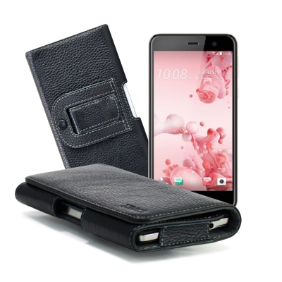 XM HTC U Play / OPPO A39 麗緻真皮腰掛皮套