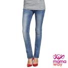【mamaway媽媽餵】孕期洗舊小直筒牛仔褲 孕婦褲 牛仔褲