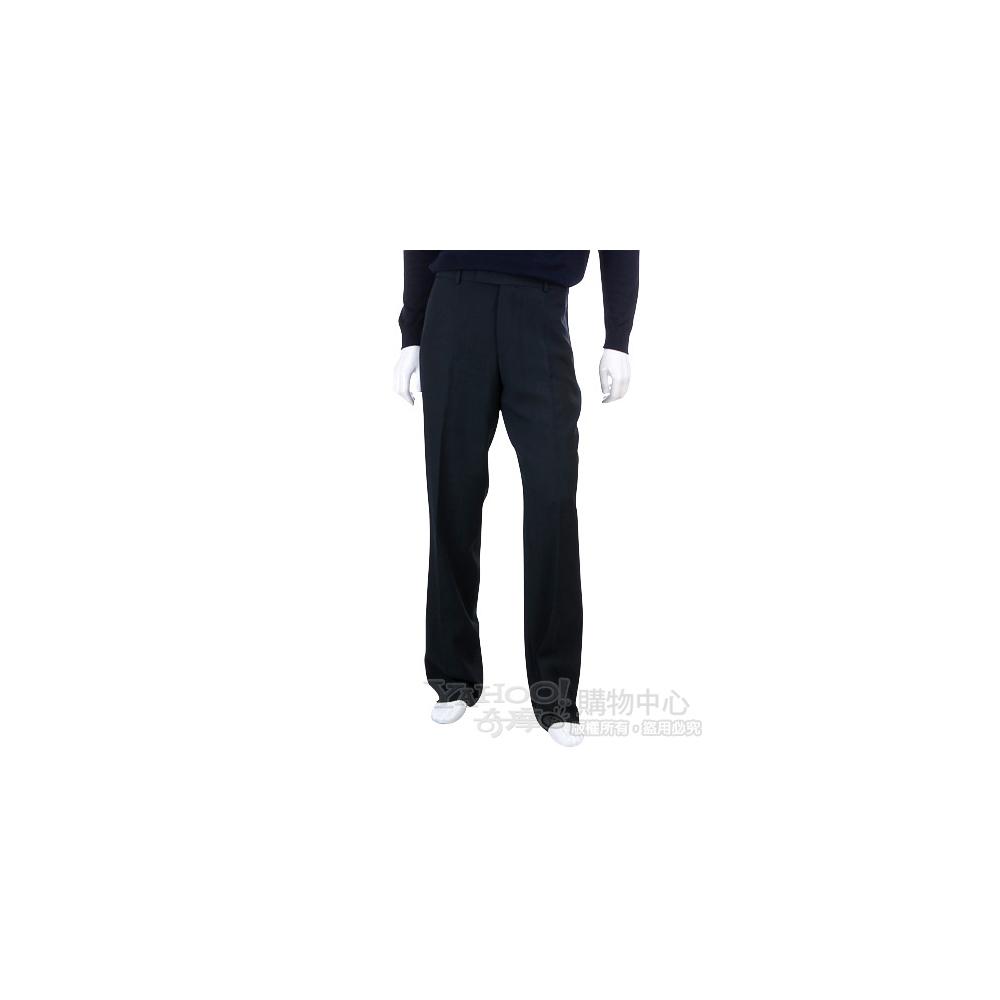 BOSS 黑色直條紋西裝褲