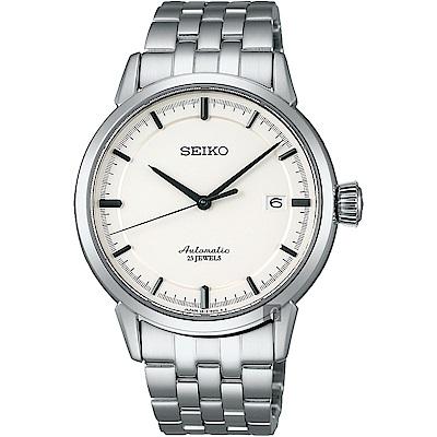 (無卡分期6期)SEIKO精工 Presage 時尚極簡機械錶(SARX021J)-銀/39mm