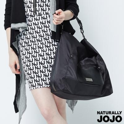 NATURALLY JOJO 尼龍新月包 (黑)