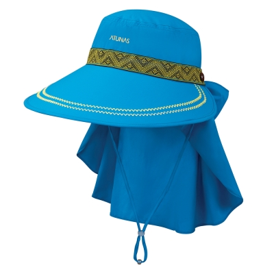 【ATUNAS 歐都納】女款防曬抗UV/吸濕/透氣大盤遮陽帽 A-A1603W 孔雀藍
