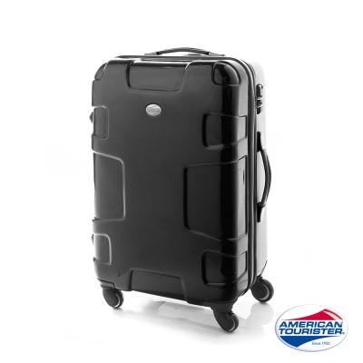 AT美國旅行者  25吋Puzzle Lite變形金剛硬殼四輪TSA行李箱(黑)