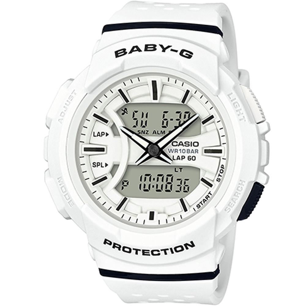 BABY-G 慢跑運動時尚腕錶(BGA-240-7A)-白/42.6mm