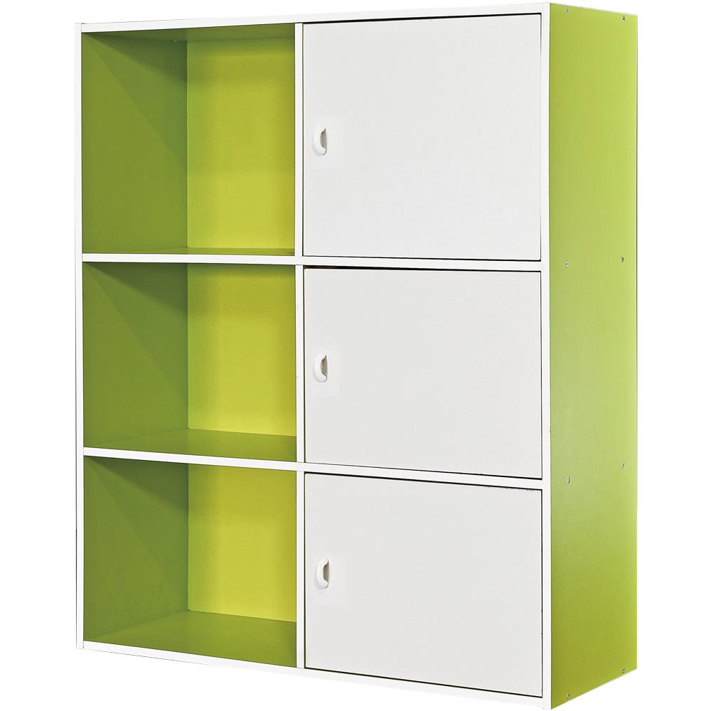 【尼普頓】六格三門櫃 -綠白雙色